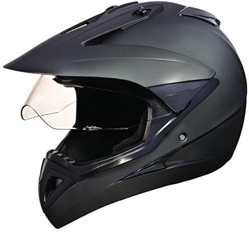 Studds Motocross Plain Motorbike Helmet(Matt Black)