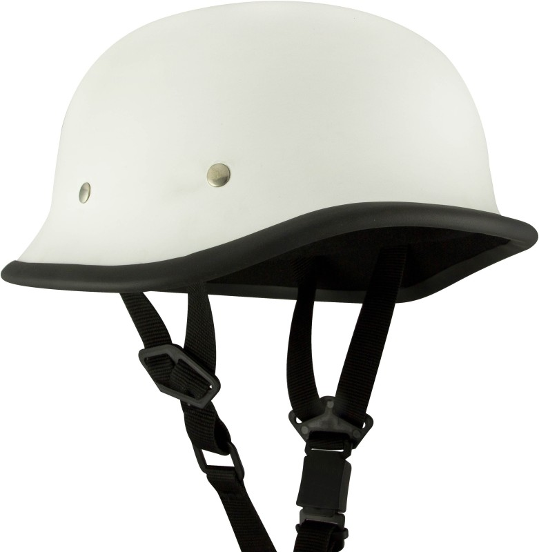 Anokhe Collections World War 2 German Style Motorbike Helmet(Matte White)