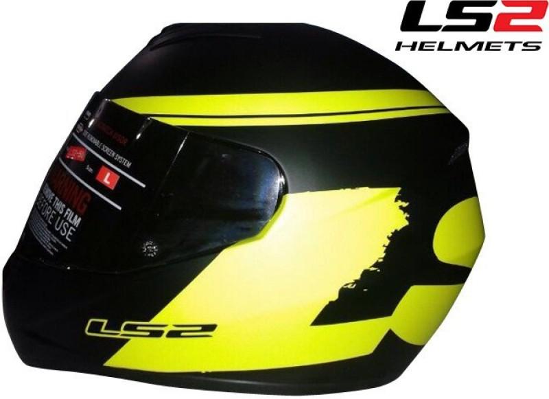 LS2 Bulky Motorsports Helmet(Matt Black, Yellow)