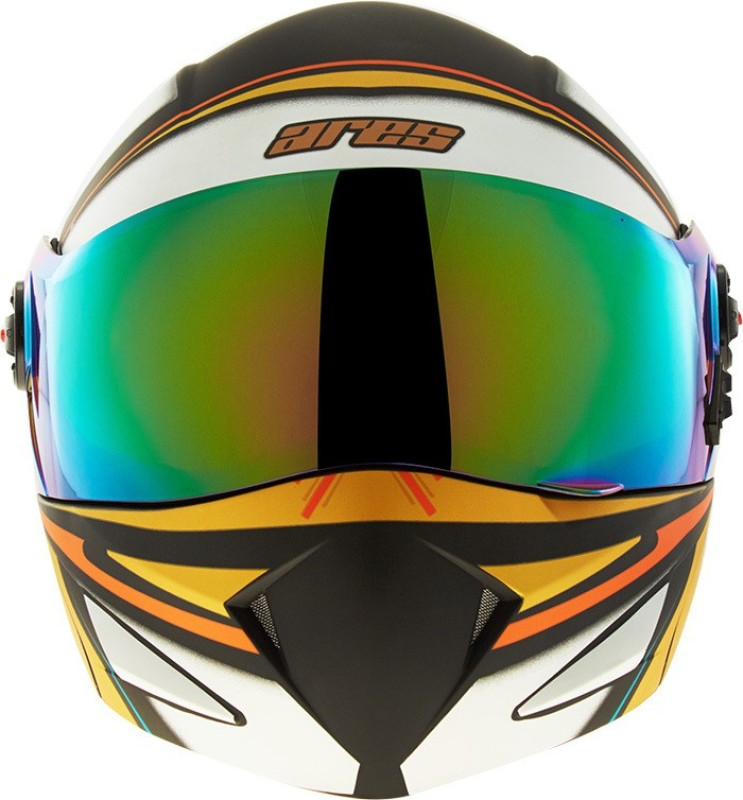 Steelbird Sb-41 Ares Strokes Motorbike Helmet(Glossy Black with Orange)