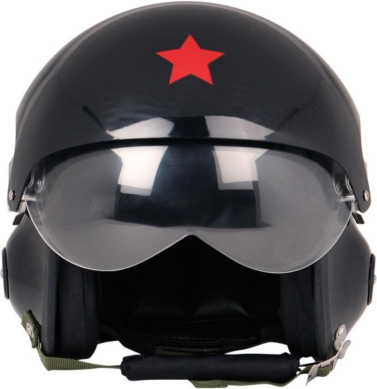 Anokhe Collections Pilot Motorbike Helmet(Black Glossy)