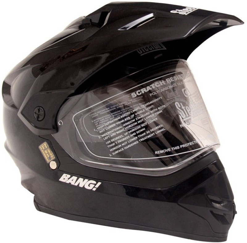 Steelbird SB-42 Bang Black Motorbike Helmet(Black)