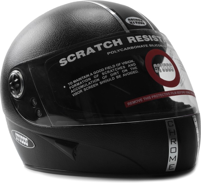 Studds Chrome Eco Motorsports Helmet(Black)