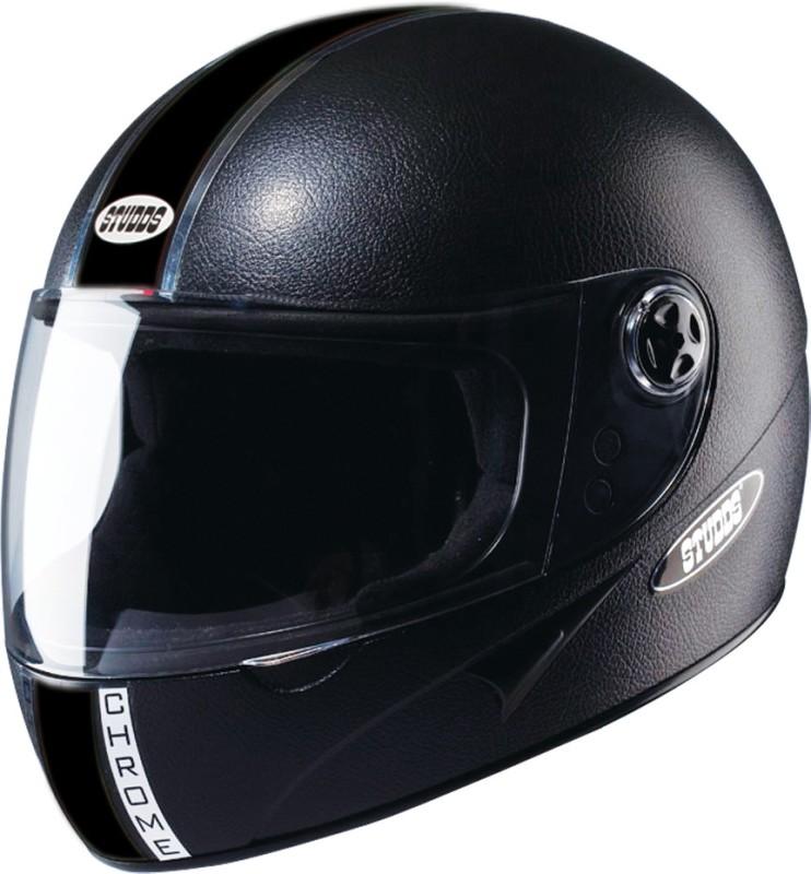 Studds Chrome Eco Motorsports Helmet(Black)
