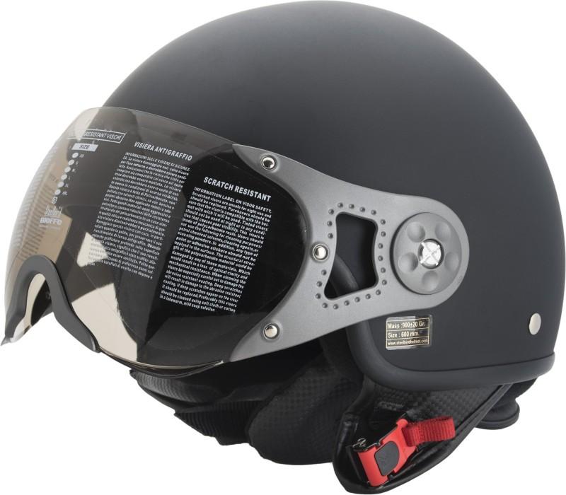 Steelbird SB-27 mat Black Motorbike Helmet(Black)
