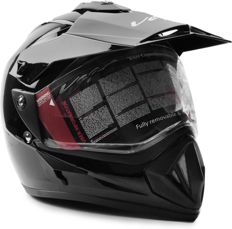Vega Off Road D/V Motorsports Helmet(Black)