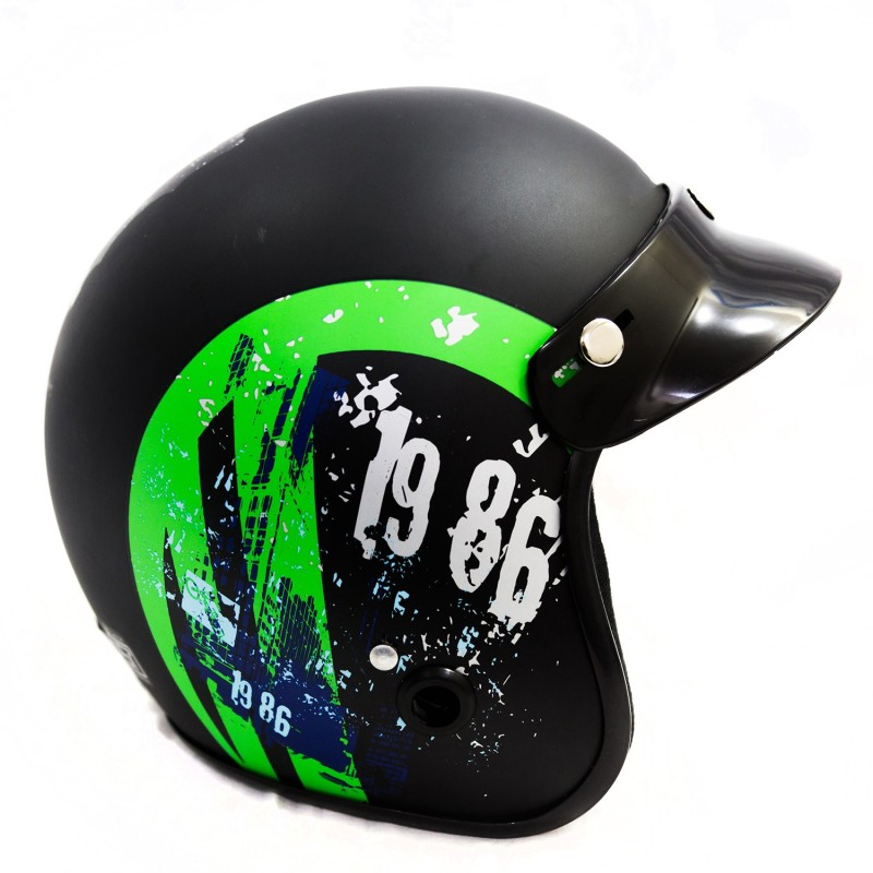 Autofy Power Black and Green Motorbike Helmet(Green)