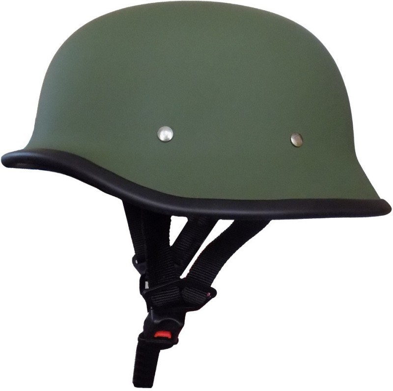 Anokhe Collections Retro German World War 2 Style Motorbike Helmet(Matte Green)