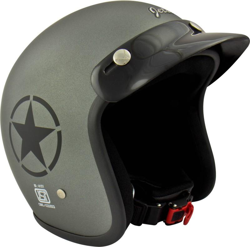 Anokhe Collections Retro Jetstar (ISI Certified) Style Motorbike Helmet(Matte Grey)