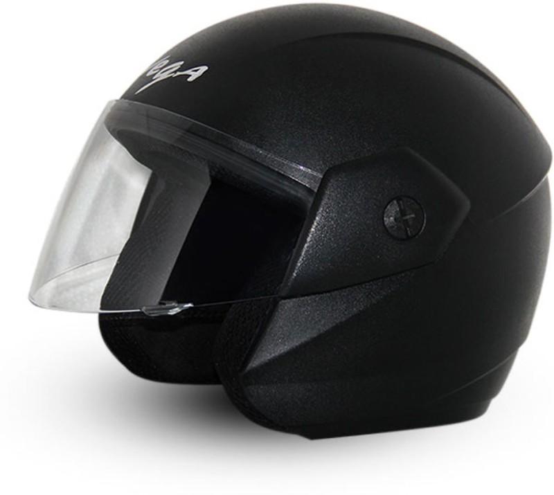 Vega Ridge Black Helmet Motorsports Helmet(Black)