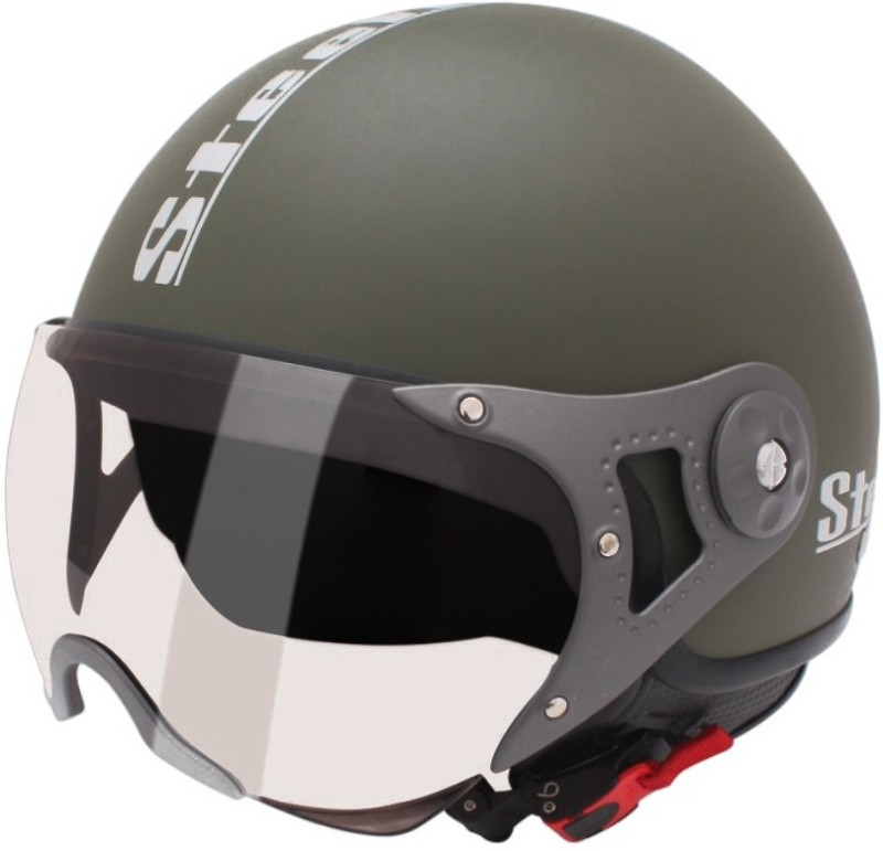 Steelbird SB-27 STYLE Motorsports Helmet(B MATT GREEN)