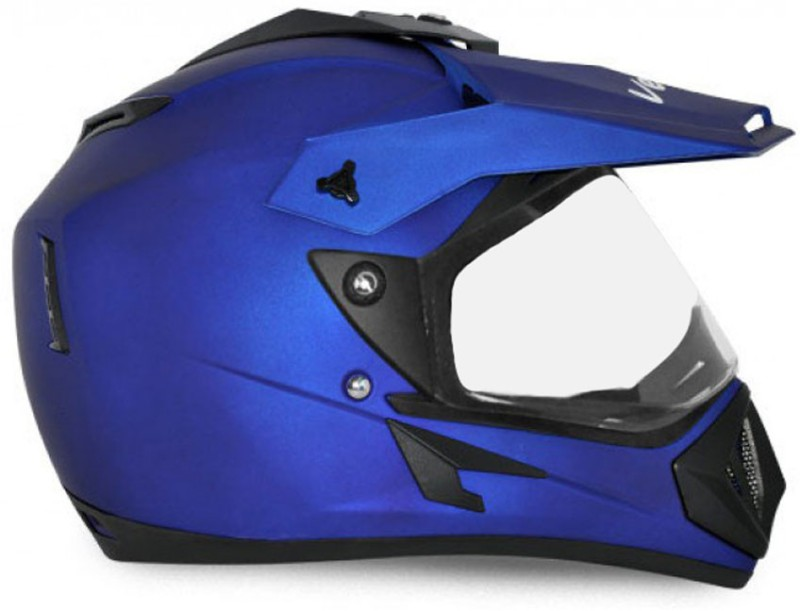 Vega Off Road D/V Motorbike Helmet(Dull Blue)