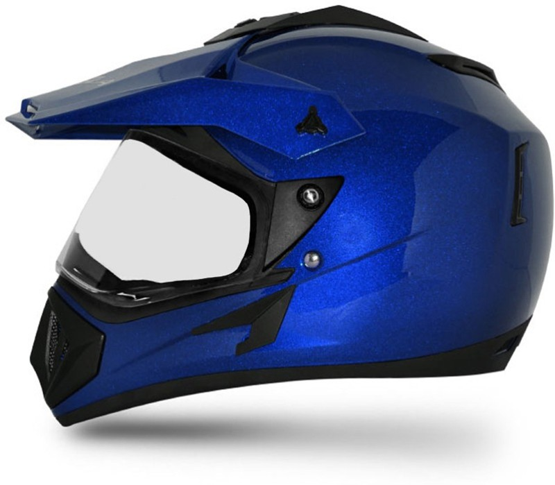VEGA Off Road D/V Motorbike Helmet(Metallic Blue)