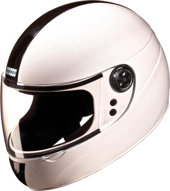 Studds Chrome Elite Motorsports Helmet(White)