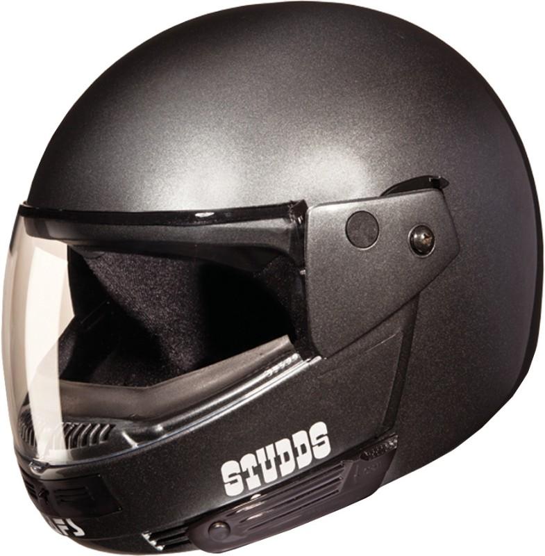Studds Ninja Pastel Plain Motorsports Helmet(GUN GREY)