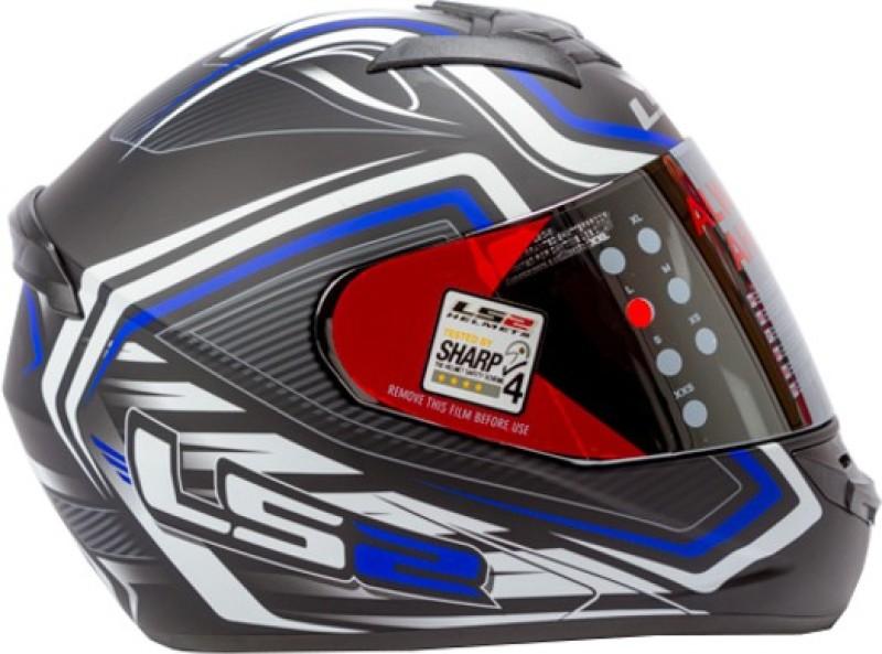 LS2 Ranger Motorbike Helmet(Black, Matt Blue)