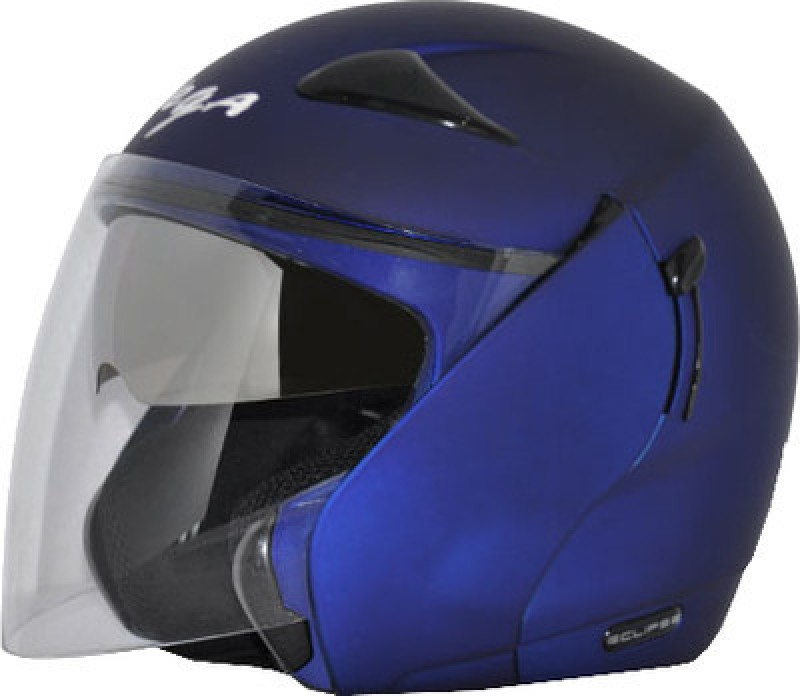 Vega Eclipse Motorsports Helmet(Dull Metallic Blue)