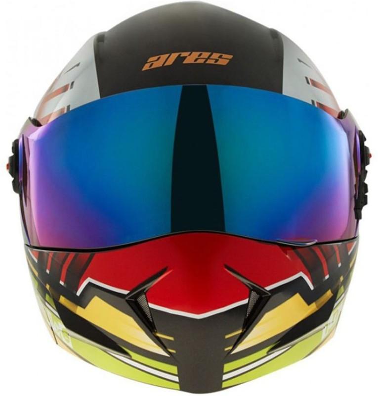 Steelbird SB-41 Ares Track Motorbike Helmet(SB-41 Ares Track Glossy Black)