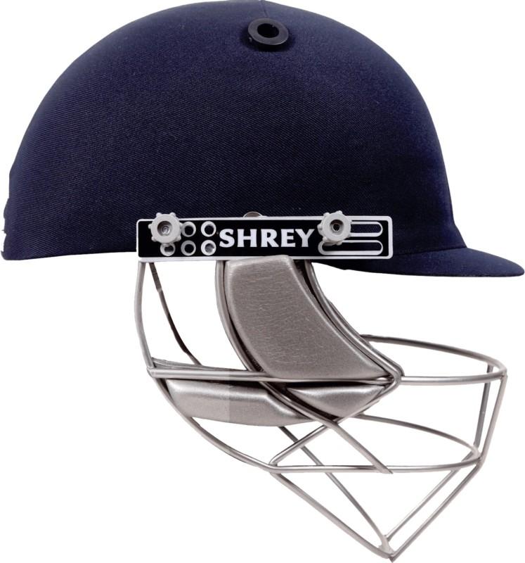 Shrey Masterclass Stainless Steel Visor Cricket Helmet(Navy Blue)