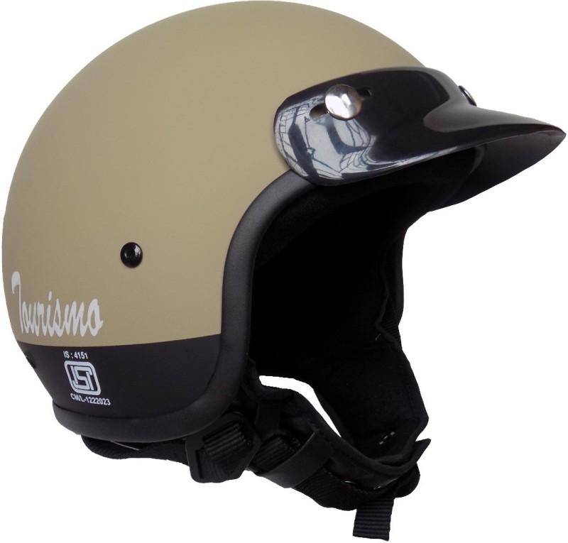 Anokhe Collections Retro Styled Tourismo Motorbike Helmet(Desert Storm Matte)