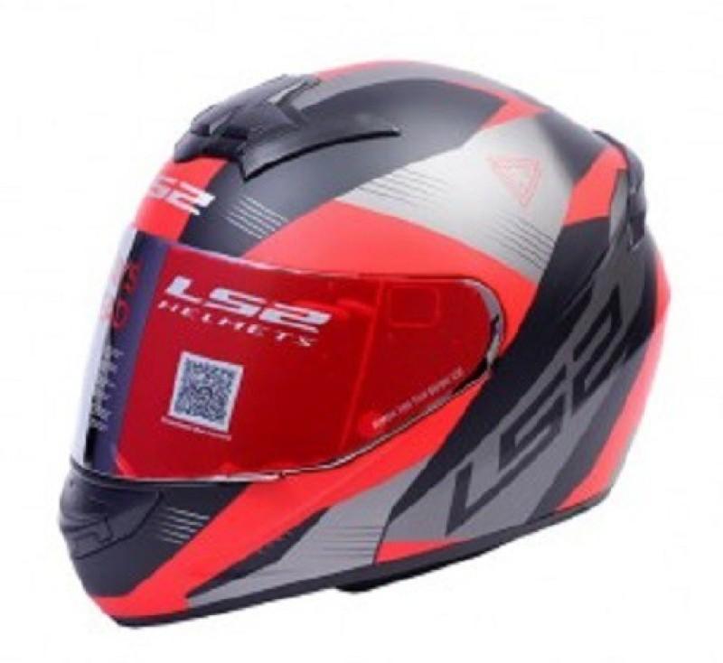 LS2 Trooper Motorsports Helmet(Black, Red)