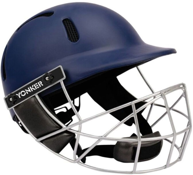 Yonker Cricket Helmet PROTECH with Dial Adjuster-L Cricket Helmet(Blue)