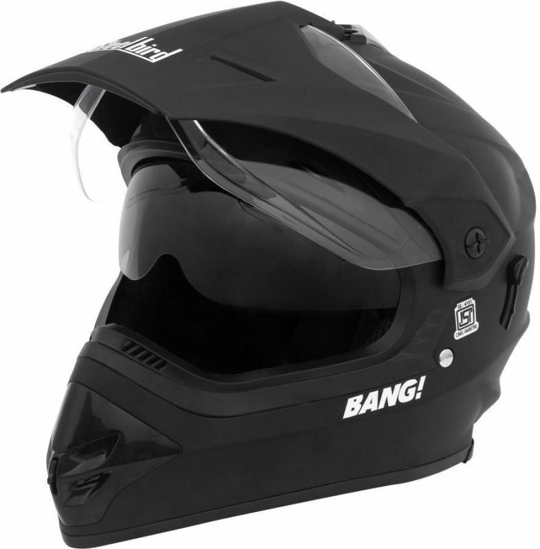 Steelbird SB-42 Bang Motocross Motorbike Helmet(Matt Black)
