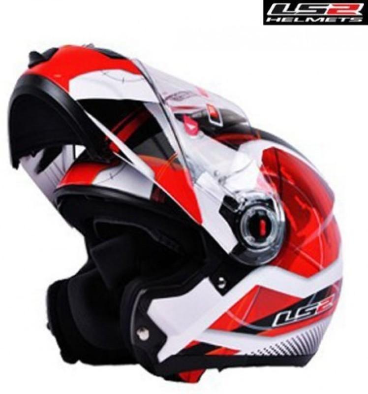 LS2 FF386 Universal Geo Motorbike Helmet(White, Red)