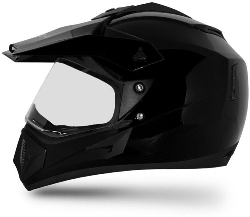 VEGA OFF ROAD BLACK Motorbike Helmet(Black)