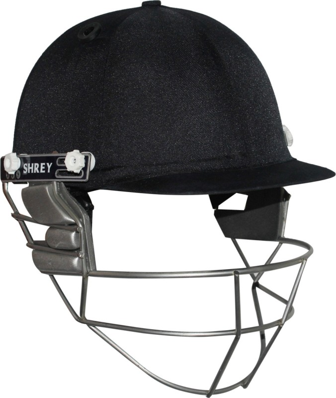 Shrey Pro Guard Helmet with Titanium Visor Cricket Helmet(Navy Blue)