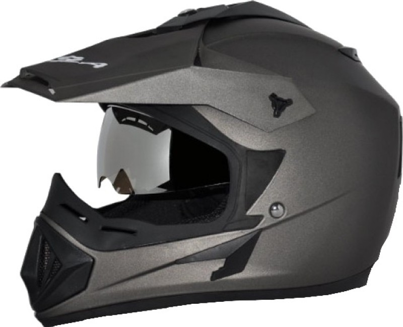Vega Off Road D/V Motorbike Helmet(Dull Anthracite)