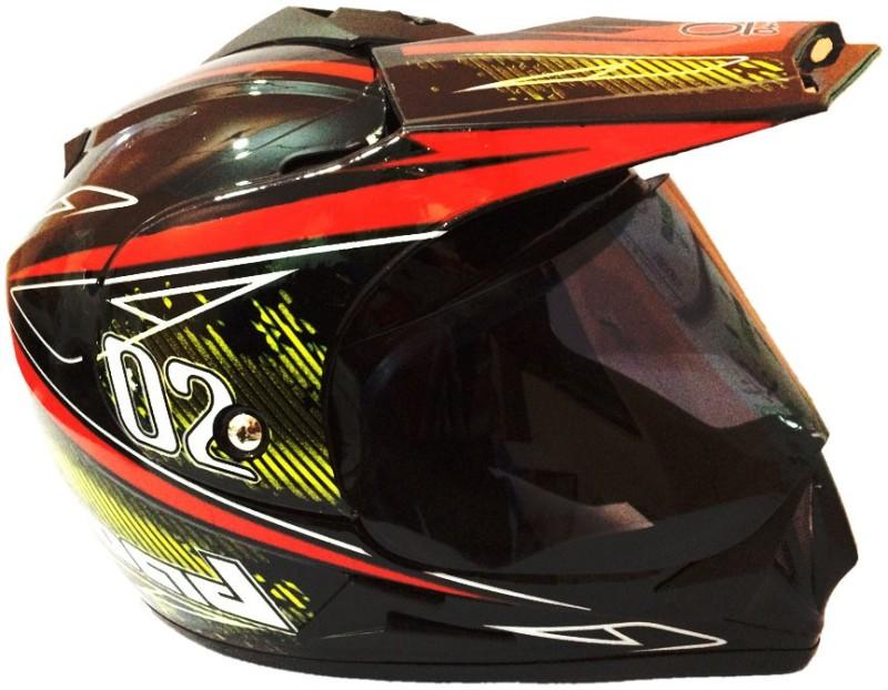 O2 Full Face ISI Motorbike Helmet(Black)