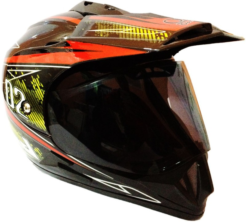 O2 Full Face Sports ISI Motorbike Helmet(Black)
