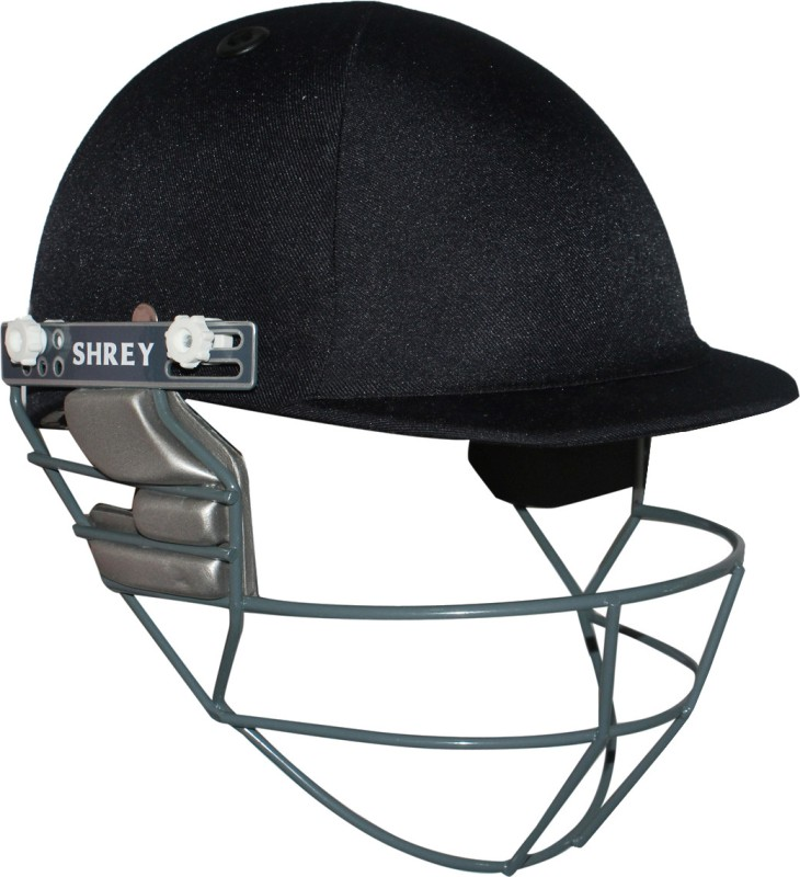 Shrey Match with Stainless Steel Visor Cricket Helmet(Navy Blue)