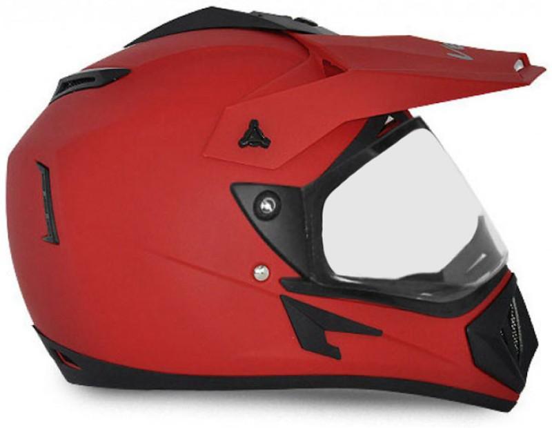 VEGA Off Road D/V Motorbike Helmet(Dull Red)