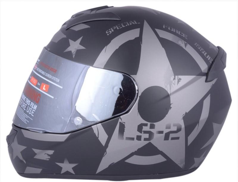 LS2 Combat Matt Black With Mercury Visor Motorbike Helmet(COMBAT MATT BLACK)