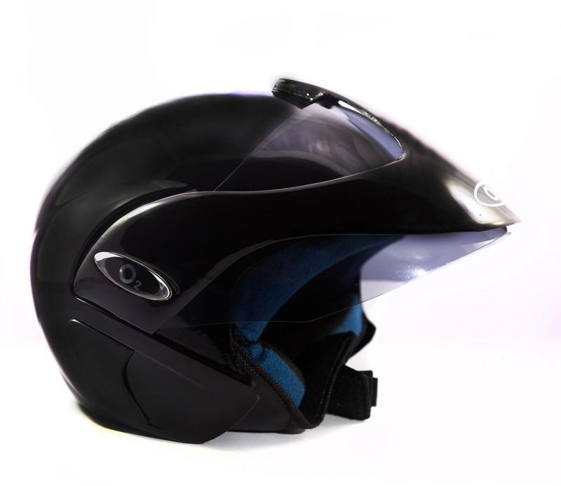 Autofy O2 Black Motorbike Helmet(Black)