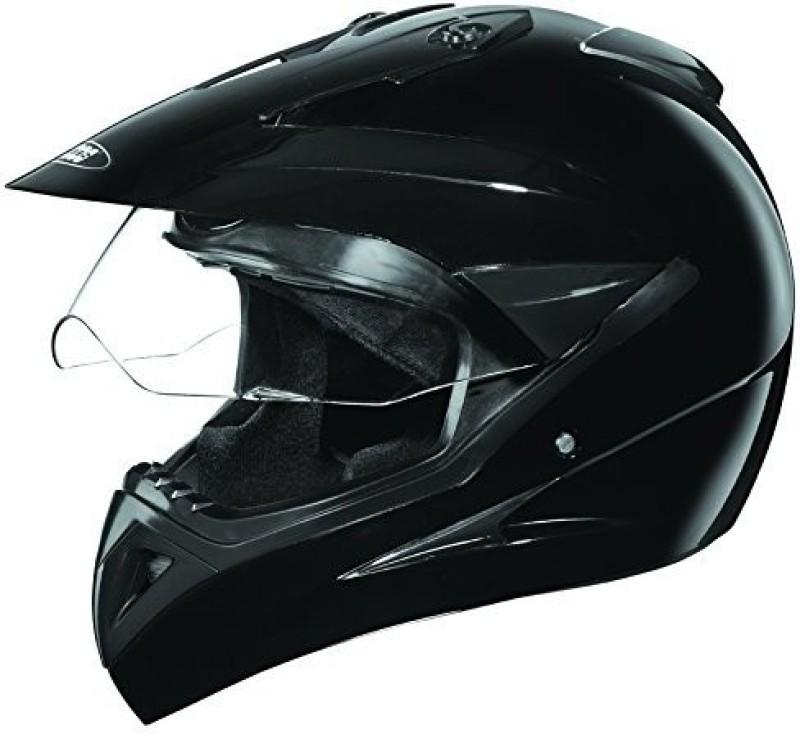 Studds Motocross Plain Motorbike Helmet(Black)