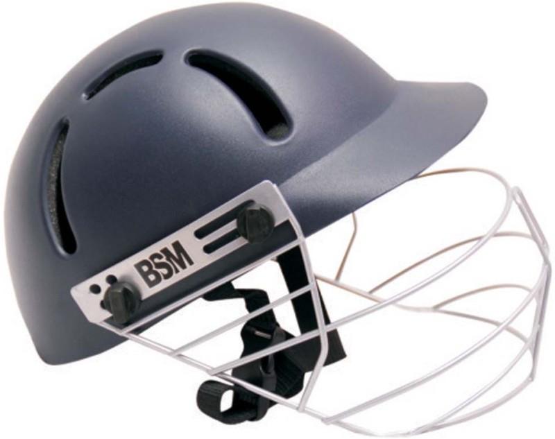 BSM TITANIUM Cricket Helmet(Black, Grey)