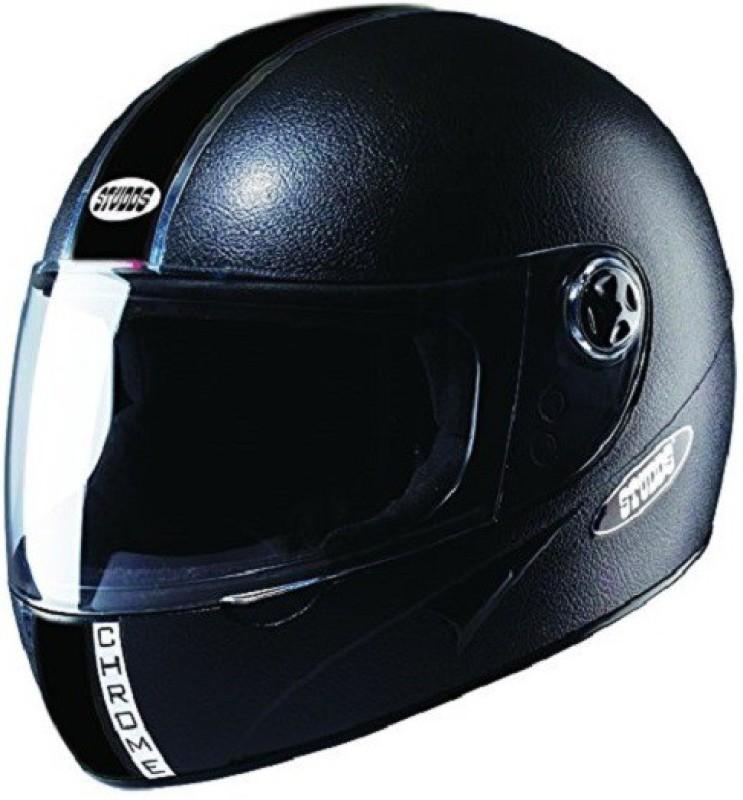 Studds Chrome Economy Motorbike Helmet(Black)