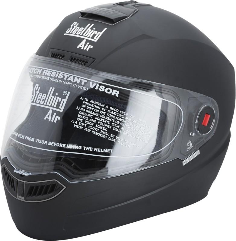 Steelbird AIR SBA-1 Classic Motorbike Helmet(Black)