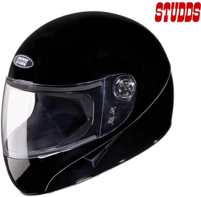 Studds Chrome Super Motorsports Helmet(Black)