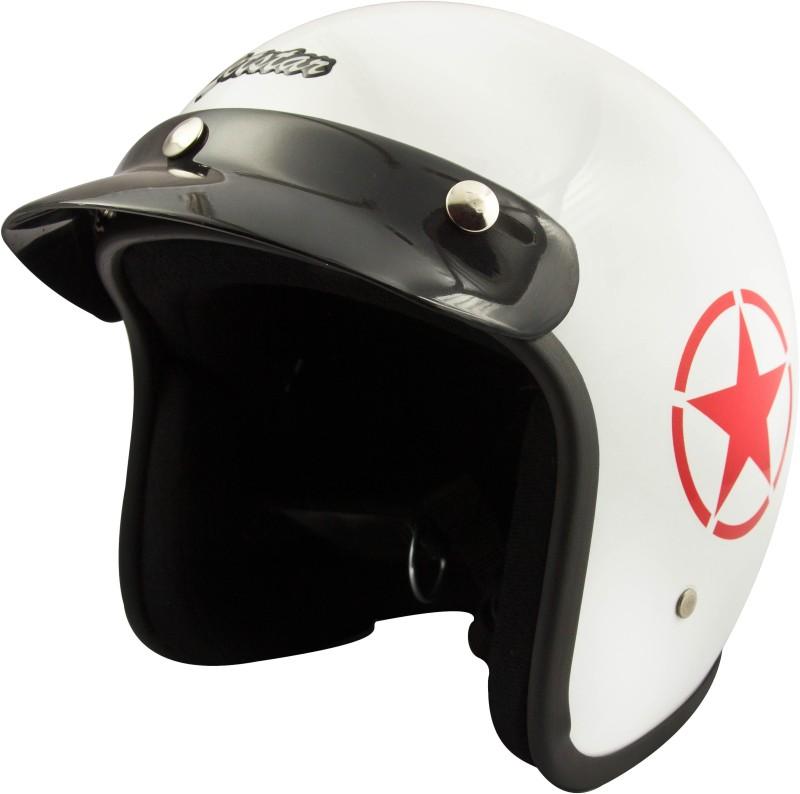 Anokhe Collections Retro Style Jetstar (ISI Certified) Motorbike Helmet(White Glossy)