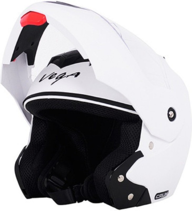 Vega Crux Motorbike Helmet(White)