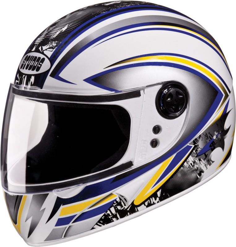 Studds Chrome Super D1 Motorsports Helmet(White)