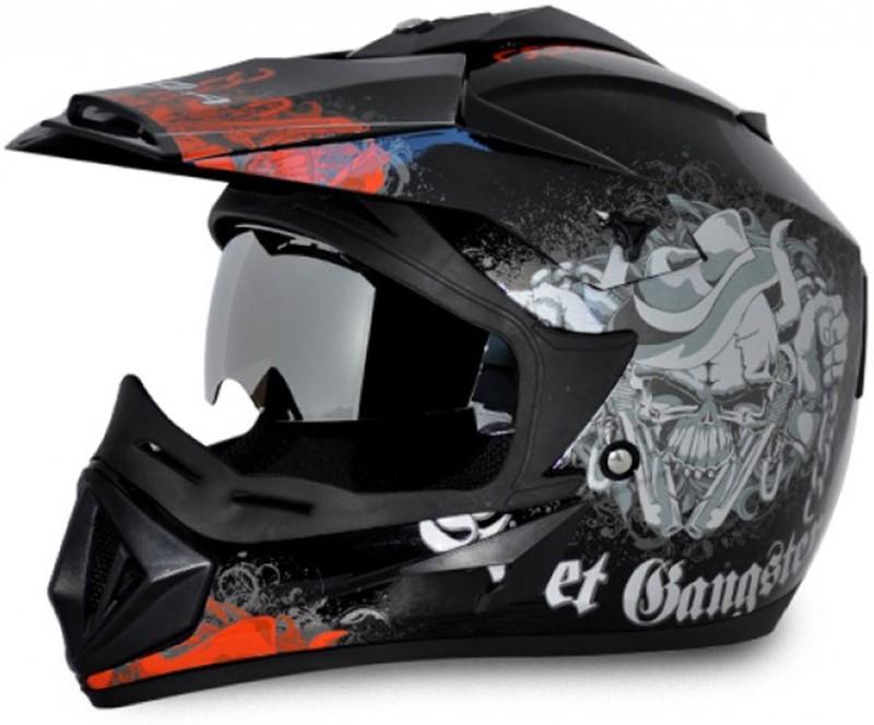 VEGA Off Road Gangster D/V Motorbike Helmet(Black Orange)