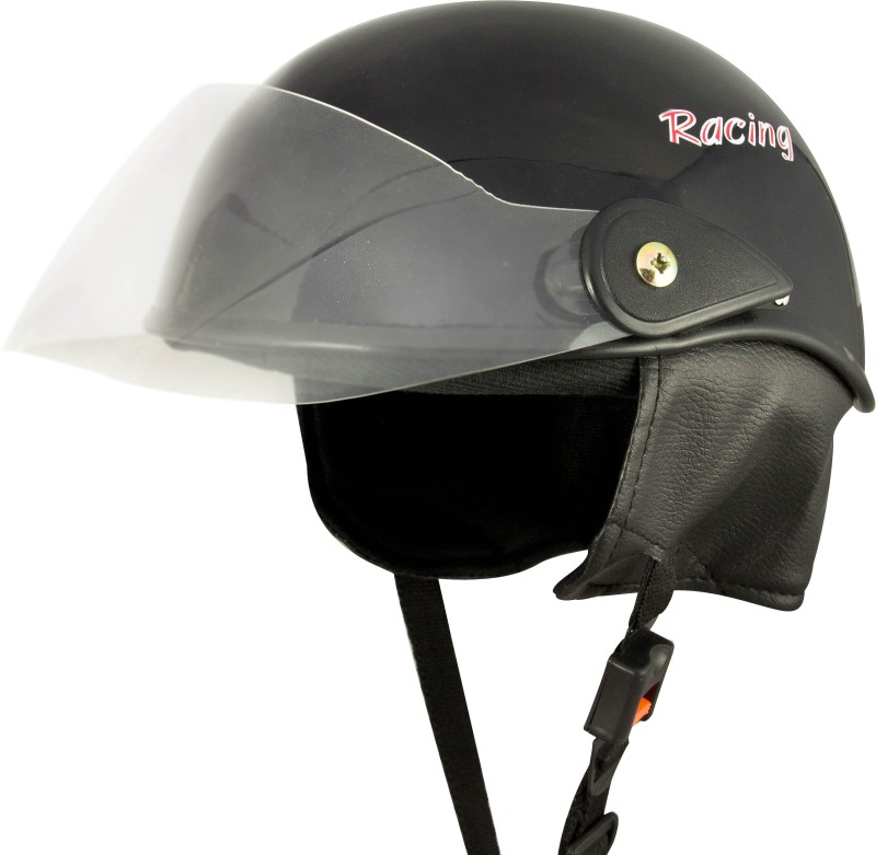 Anokhe Collections Racing Master Motorbike Helmet(Black Glossy)