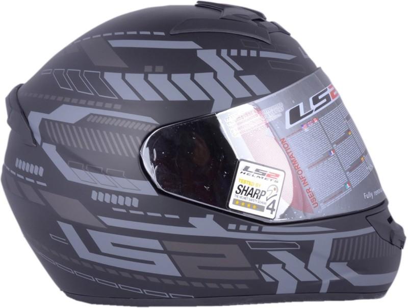 LS2 FF352 Tron Black Silver Motorbike Helmet(Black, Silver)