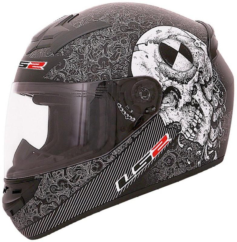 LS2 FF352-L Rookie Skull Motorbike Helmet(Graphic Black Grey)