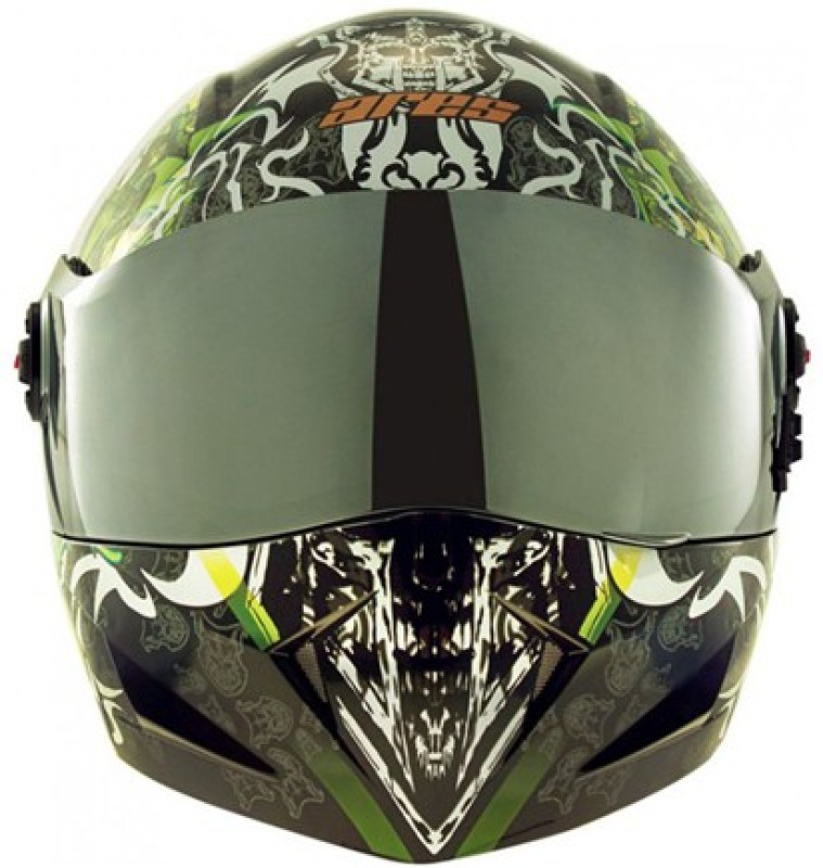 Steelbird SB-41 Devil Face Motorbike Helmet(SB-41 Devil Face Glossy Black Large 600MM)